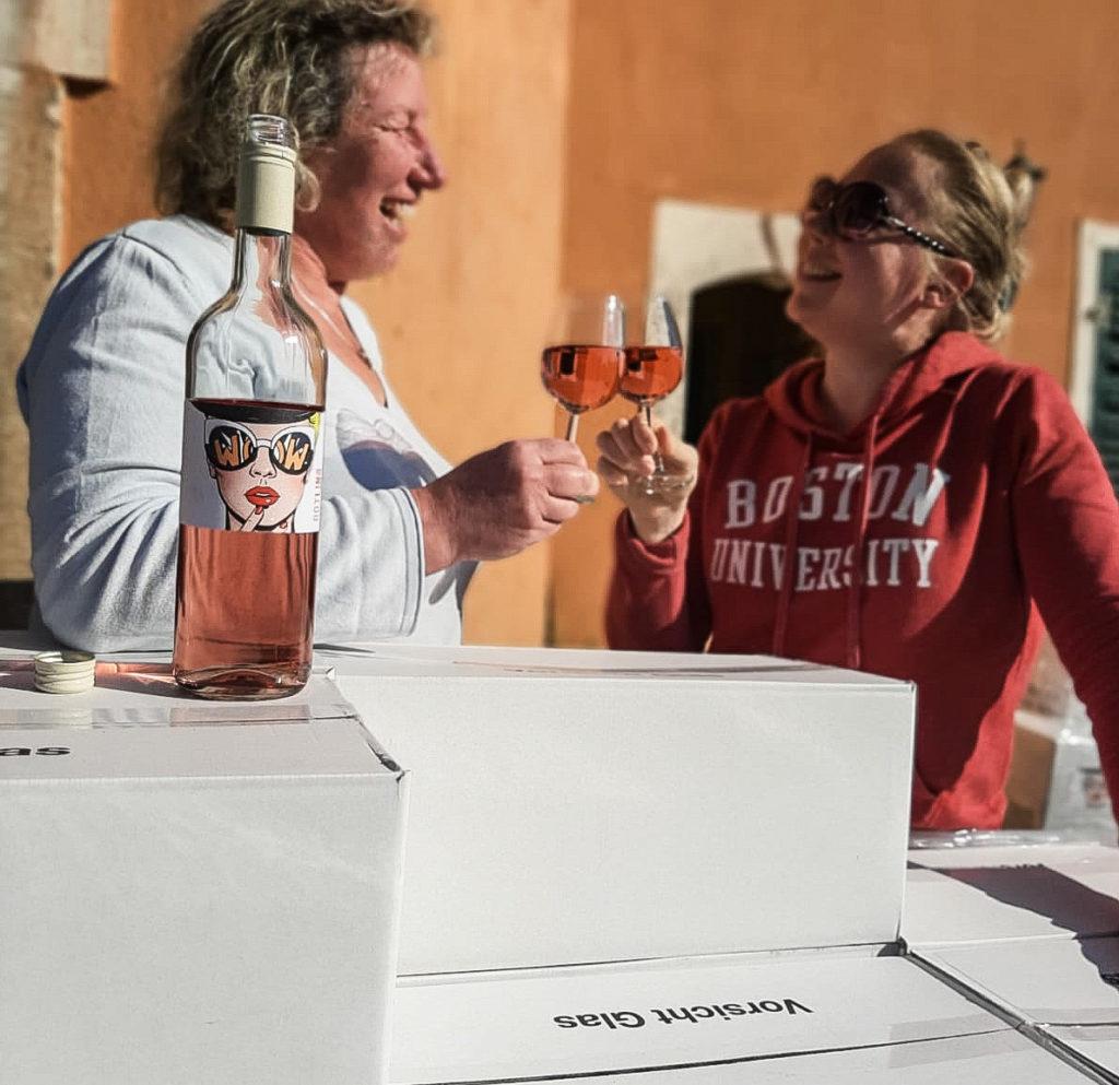 Weinweiber Wein Lieferung Rotling Weingut Mathern Nahe